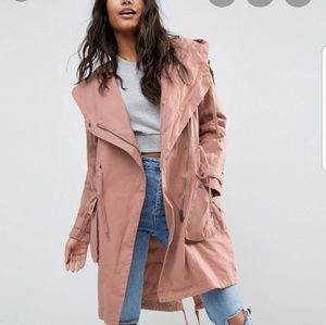 ASOS waterfall parka